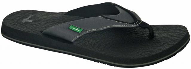 Sanuk Beer Cozy Sandal - Black / Grey
