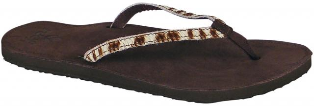 Reef Skyla Safari Sandal - Brown / Zebra