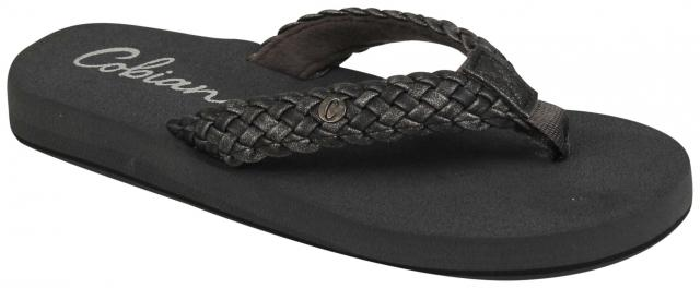 Cobian Braided Bounce Sandal - Charcoal