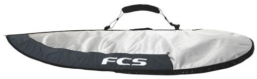 FCS Dayrunner Shortboard Day Bag - Silver / Dark Grey