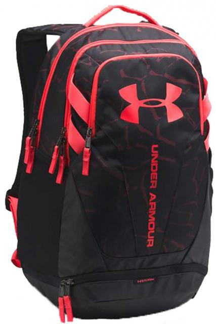 Under Armour Hustle Backpack Black Tropic Pink For