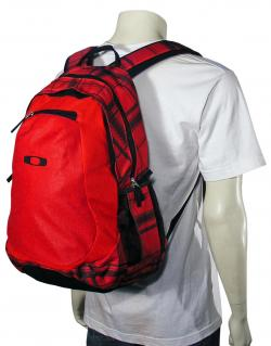 Oakley Base Load Backpack - Red Plaid / Black