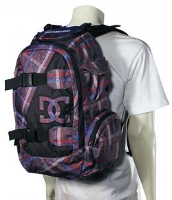 DC Wolfbred Backpack - Grey Plaid