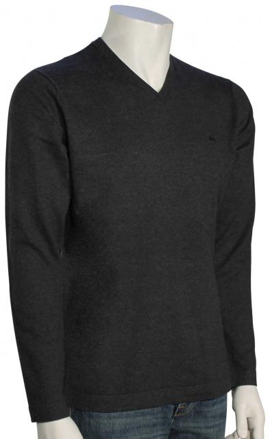 Quiksilver Everyday Kelvin V-Neck Sweater - Dark Grey Heather