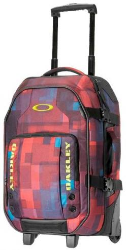 Oakley Carry On Roller Luggage - Red Print