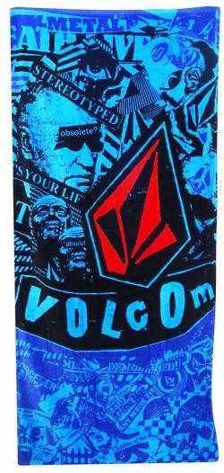 Volcom Collage Beach Towel - Blue
