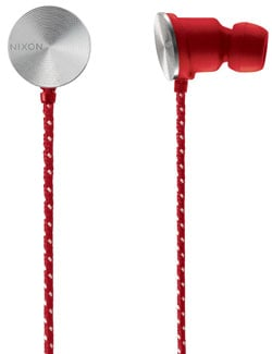 Nixon Wire 8mm Headphones - Red