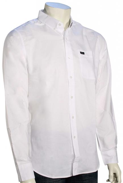 RVCA That'll Do LS Oxford Shirt - White
