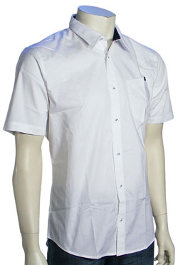 Zoom for Volcom XYZ SS Button Down Shirt - White