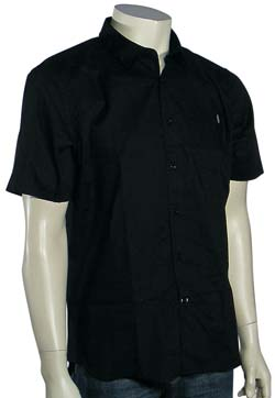 Volcom X Factor Solid SS Button Down Shirt - Black