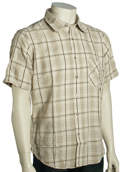 Billabong Plaidnosic SS Button Down Shirt - Stone