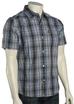 Quiksilver Peppy Slim Fit SS Button Down Shirt - Haggis Grey