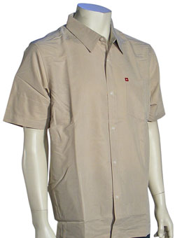 Quiksilver Groove Rider SS Button Down Shirt - Tan