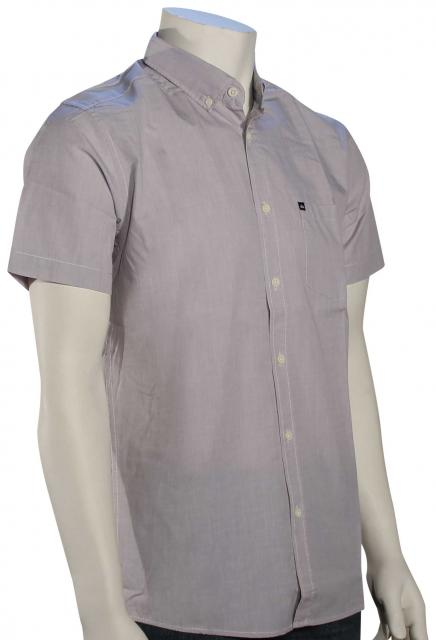 Quiksilver Wilsden SS Button Down Shirt - Steeple Grey