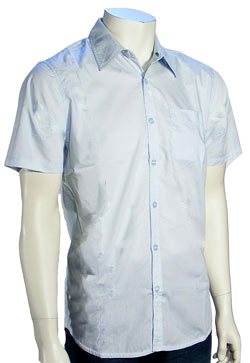 Hurley One and Only Solid SS Button Down Shirt - Coast