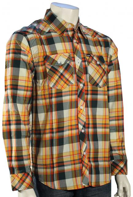 Hurley Houston LS Button Down Shirt - Forest