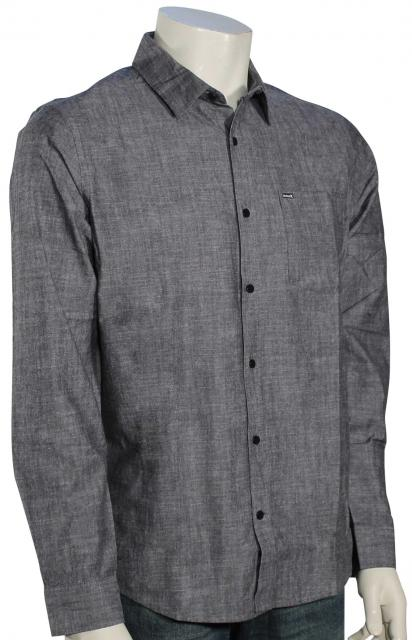 Hurley One and Only 3.0 LS Button Down Shirt - Black