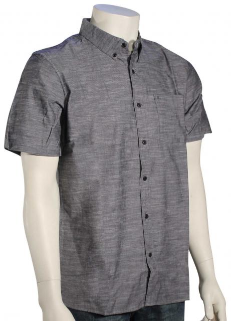 Hurley One and Only SS Button Down Shirt - Black
