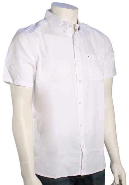 Hurley One and Only SS Button Down Shirt - White
