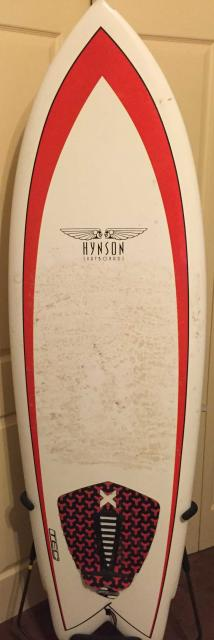 Used Boardworks Mike Hynson Black Night Quad Surfboard - 5'11