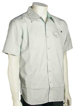 Rip Curl Flux SS Button Down Shirt - Ocean Blue