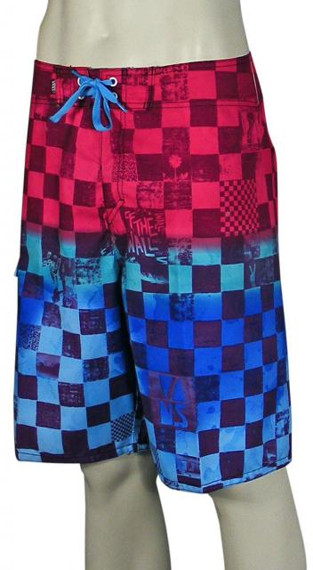 Vans Off The Wall Checkered Boardshorts - Blue Fade Scan Check