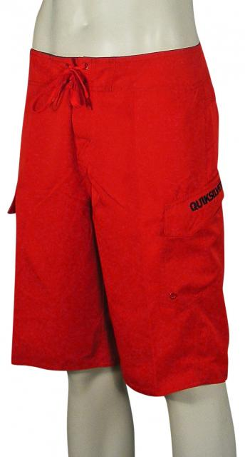 Quiksilver Manic Solid Boardshorts - Comp Red
