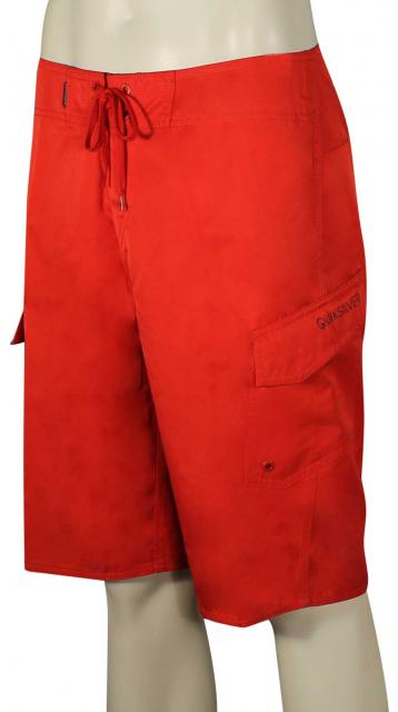 Quiksilver Manic Solid Boardshorts - Classic Quik Red