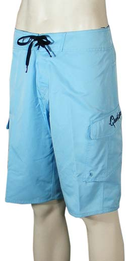 Quiksilver Manic Solid Boardshorts - Light Blue
