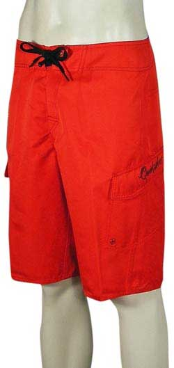 Quiksilver Manic Solid Boardshorts - Red / Red