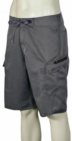 Zoom for Quiksilver Manic Solid Boardshorts - Smoke