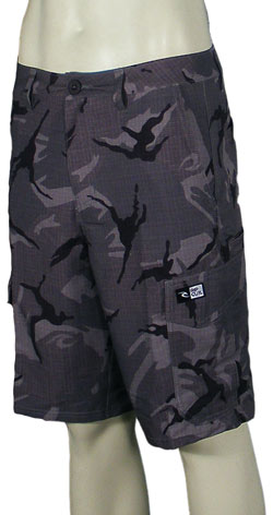 Rip Curl Mirage Cargo Boardwalk Hybrid Shorts - Grey Camo