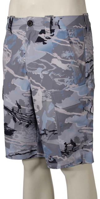 Under Armour Fish Hunter Cargo Shorts - Reaper Camo Hydro / Stealth Grey