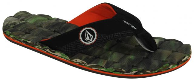 Volcom Boy's Recliner Sandal - Camouflage