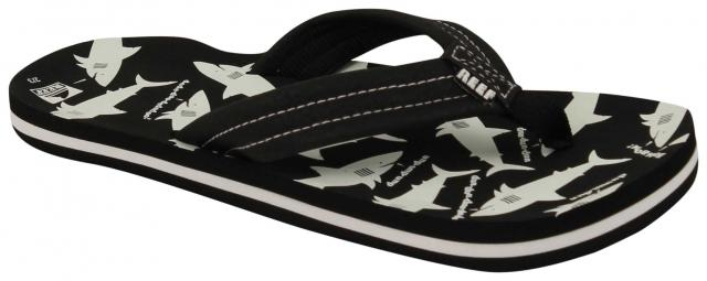 Reef Boy's Ahi Glow Sandal - Black / White