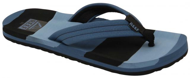 Reef Boy's Ahi Sandal - Blue Multi Lines