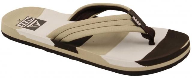 Reef Boy's Ahi Sandal - Tan Multi Lines