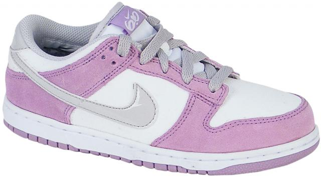 Nike 6.0 Dunk Low Junior Shoe - Violet Wash / Neutral Grey