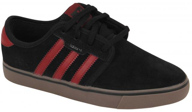 Adidas Kid's Seeley Shoe - Black / Burgundy / Gum