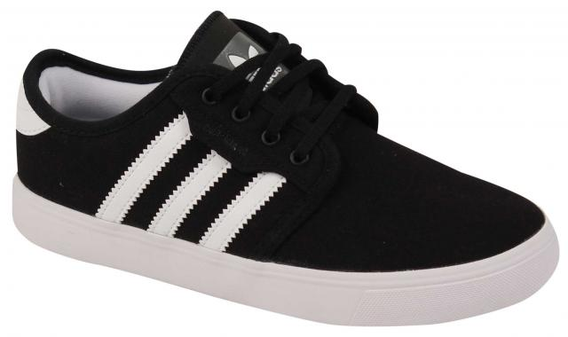 Adidas Kid's Seeley Shoe - Black / White / Black