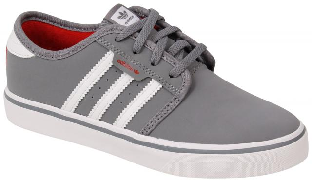 Adidas Kid's Seeley Shoe - Grey / White / Scarlet