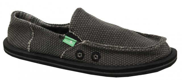 Sanuk Vagabond Kids Sidewalk Surfer - Black
