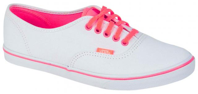Vans Authentic Lo Pro Women's Shoe - Coral / True White