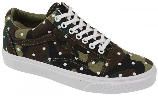 Vans Old Skool Women's Shoe - Camo Polka Dot / True White