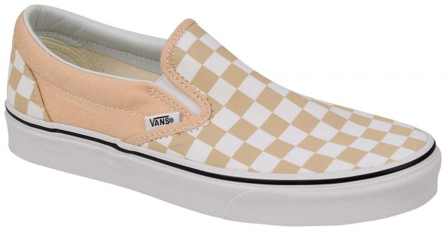 Vans Classic Slip On Women's Shoe - Checkerboard Bleached Apricot