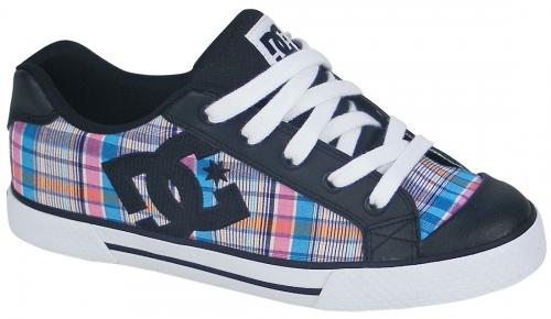 DC Women's Chelsea Shoe - Black / Crazy Pink / Blue
