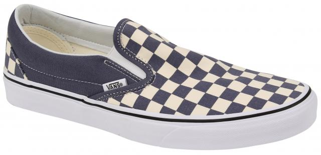 Vans Classic Slip On Shoe - Checkerboard Grisaille   True White For ... 247451fc0