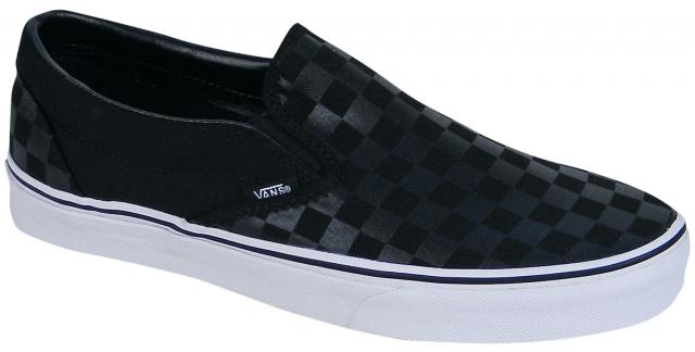 Zoom for Vans Classic Slip On Shoe - Checkerboard Black / Black
