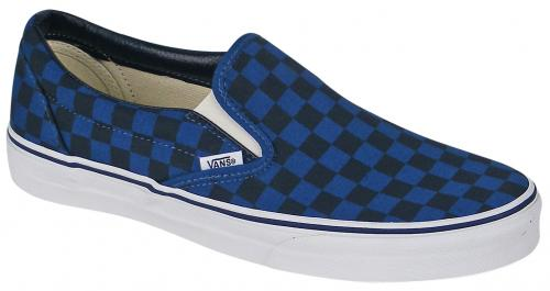 Vans Classic Slip On Shoe - Dark Blue Checker