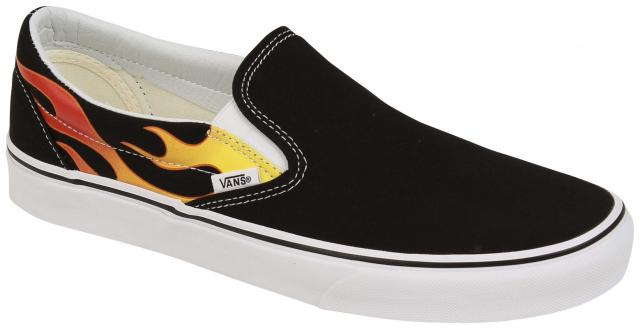 Vans Classic Slip On Shoe - Flame / Black / True White